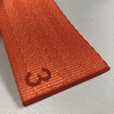 Лента ремня безопасности 03 оранжевая