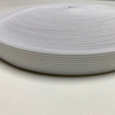 Резинка, лента эластичная 20мм, белая, моток 25м