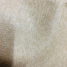 Искусственная кожа крокодил бежевая матовый 0,9мм (1331 цв.276, 14 гр)