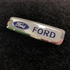 Шильдик для автоковриков ford глянцевый цветной