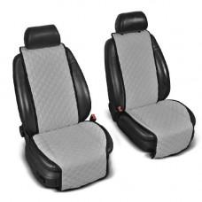 Накидки на сиденья авто серые (комплект, 2 передних)