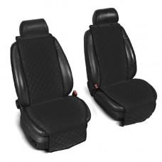 Накидки на сиденья авто черные (комплект, 2 передних)